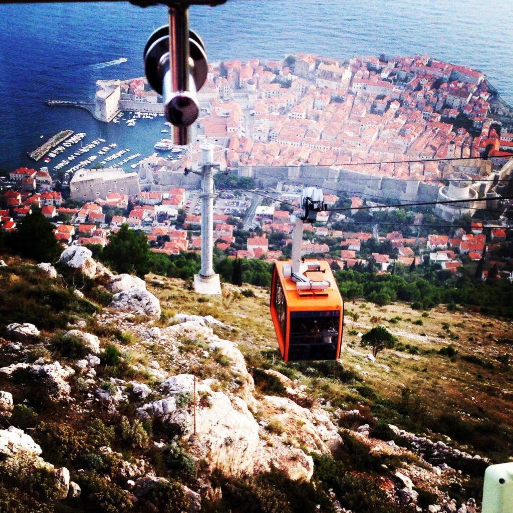Cable Car to View Dubrovnik