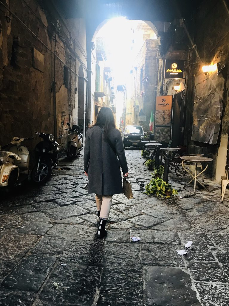 Me in Streets of Naples