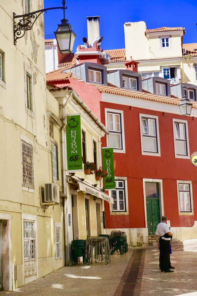 Pretty streets in Lisbon , Portugal