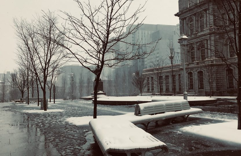 Old Montreal in the Winter