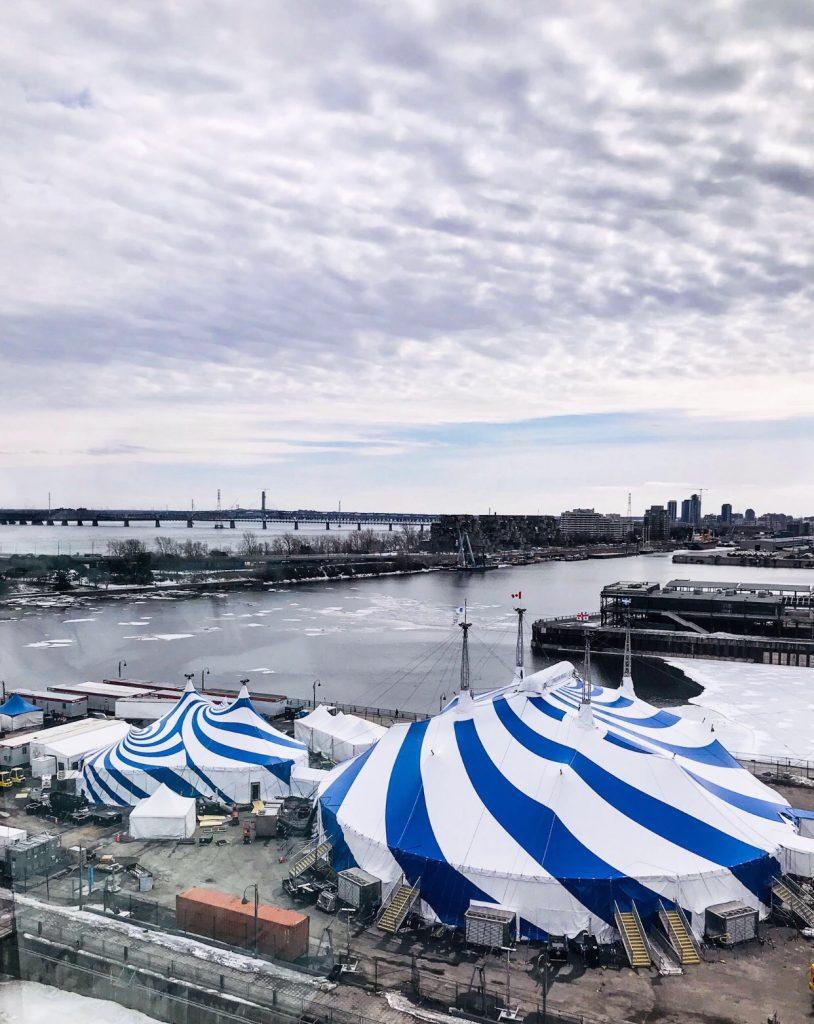 Cirque de Soleil Tents in Old Montreal