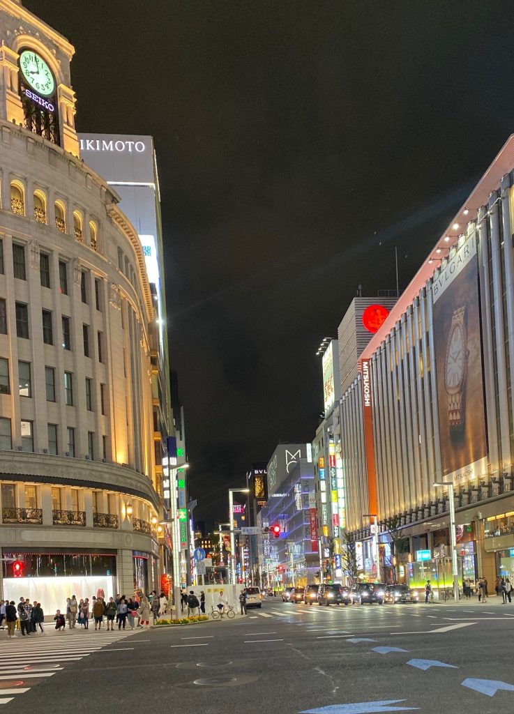 Ginza- Upscale District , sushi bars , designer stores- fact on Japan