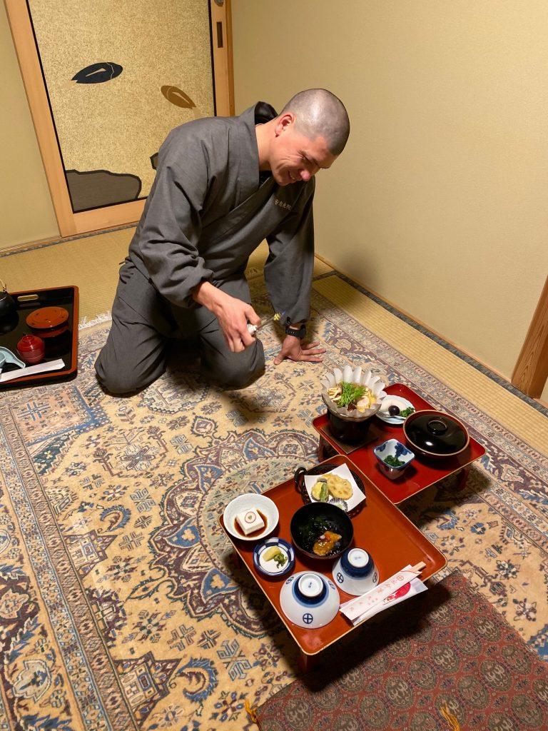 Monk Serving me Dinner