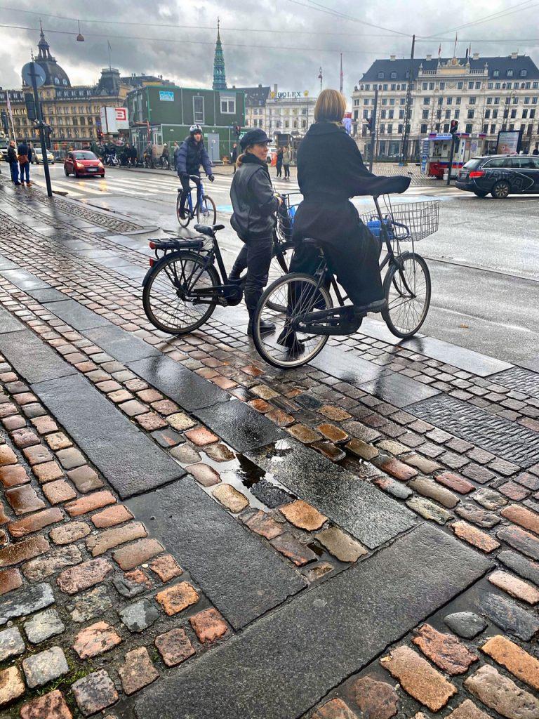 Danes on a Bike